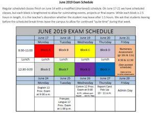 Exams 2019 - Oak Bay High School